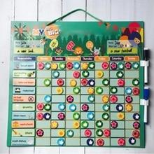 Toy Table-Calendar Reward Chores Kids Chart-Board Educational Magnetic Behavior Self-Discipline-Table