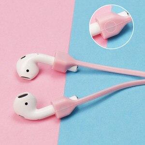 Image 4 - מגנטי אוזניות רצועת עבור Airpods אנטי אבודה רצועה מגנטי מחרוזת חבל עבור Bluetooth TWS אוזניות סיליקון כבל כבל