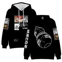 Black 3D Hoodie Hatake Kakashi Sweatshirts kids Hoodies Men/women Long Sleeve Anime Akatsuki Sasuke Clothes anime clothes