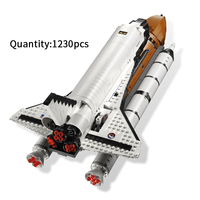 1230pcs assemble Space Shuttle Expedition model building blocks compatible legoed bricks educational toys gifts for children