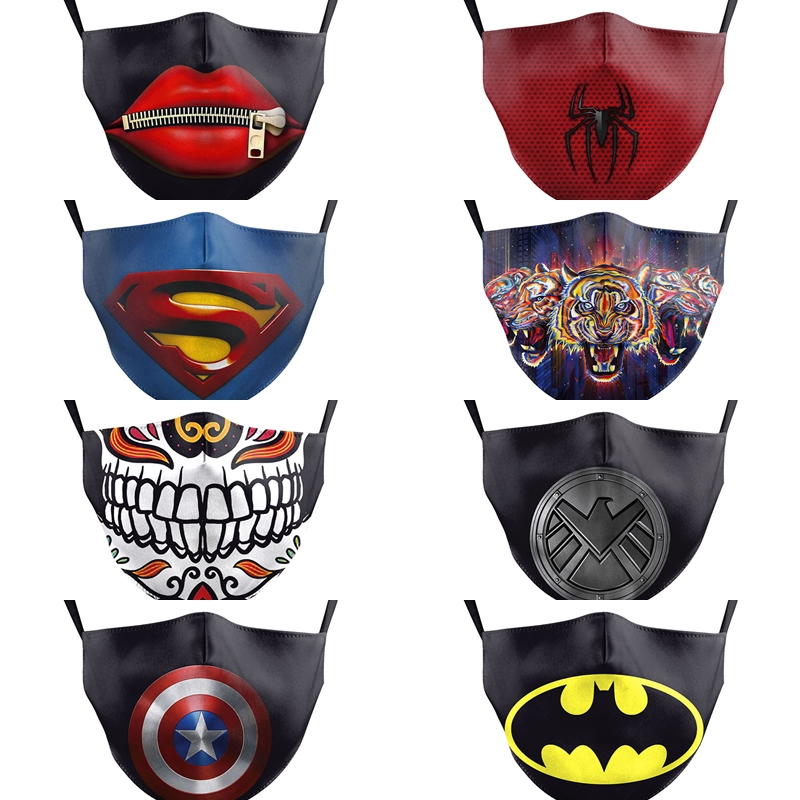 Kid Mask PM2.5 Children Face Protection Mask Marvel Cartoon Pattern Dustproof Anti Dust Face Mouth Mask Reusable Breathable