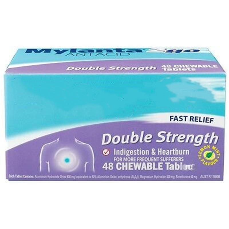 Double Strength 48 pcs promote digestion, relief of heartburn.Relieve stomachache and flatulence image