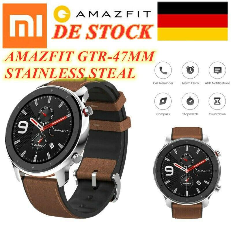 Globale Version Xiaomi Huami Amazfit GTR 47mm Smart Uhr 5ATM Wasserdichte Smartwatch 24 Tage Batterie Musik Control DE STOCK