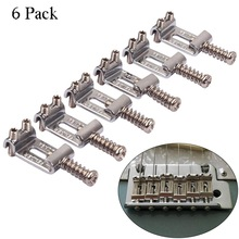цена на New 6 Roller Bridge Tremolo Saddles With Wrench For Strat Tele Electric Guitar