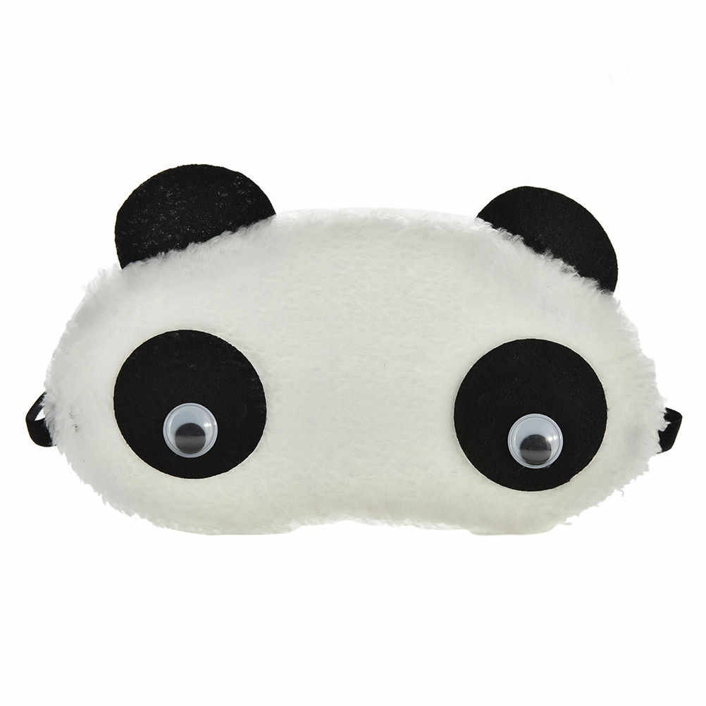 Tidur Mata Masker Shade Nap Cover Penutup Mata Wajah Putih Panda Shading Tidur Katun Kacamata Bantuan Bersantai Perjalanan Penutup Mata 1 Pc