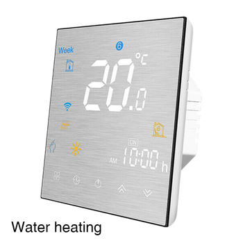 Programmable Thermostat Voice Control Floor Heating Home Wall Mounted Touch Buttons Wireless WiFi Smart App For Alexa Google