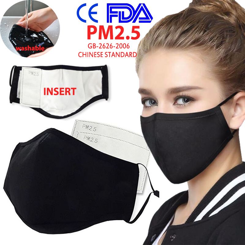 KN95 Face Mask Respirator Anti-fog Dust-proof Washable Reusable Mouth Mask Breathable Filter Replaceable Mask Mouth-muffle