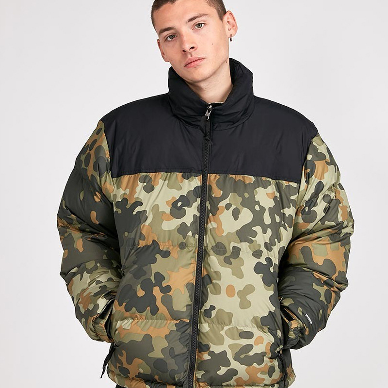 Edison Chen Classic Camouflage Yellow Green Pink Wine Red Black Dark Blue Down Jacket Cotton-padded Clothes TN-Hidden Cap Coat P