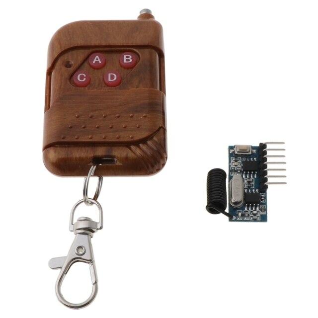 שלט רחוק אלחוטי מקלט מתג שקע למידה קוד EV1527 פענוח מודול כפתור 433MHz 4CH פלט LED חשמלי דלת