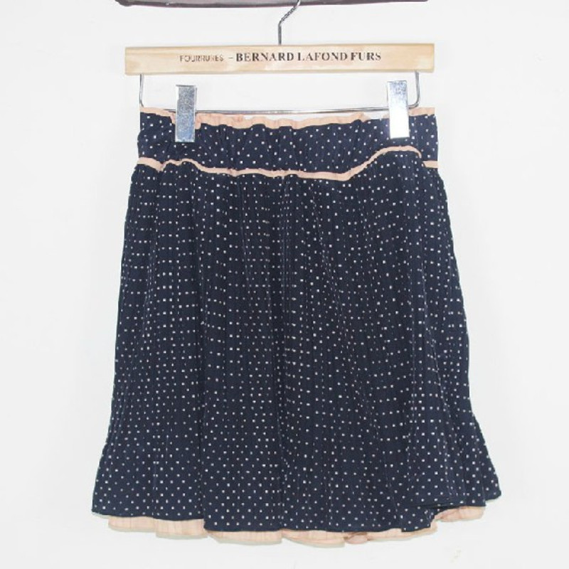 Autumn And Winter New Style Korean-style Polka Dot Reversible Chiffon Short Culottes Dotted Skirt Pleated Short Culottes A016