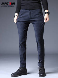 Trousers Male Pant Stretch Business Autumn Winter Straight New-Design Fashion Slim Men's