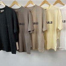 2021 nova camiseta manga corta 100% 1:1 nevoeiro essentials camiseta kanye west jerry lorenzo manga corta t