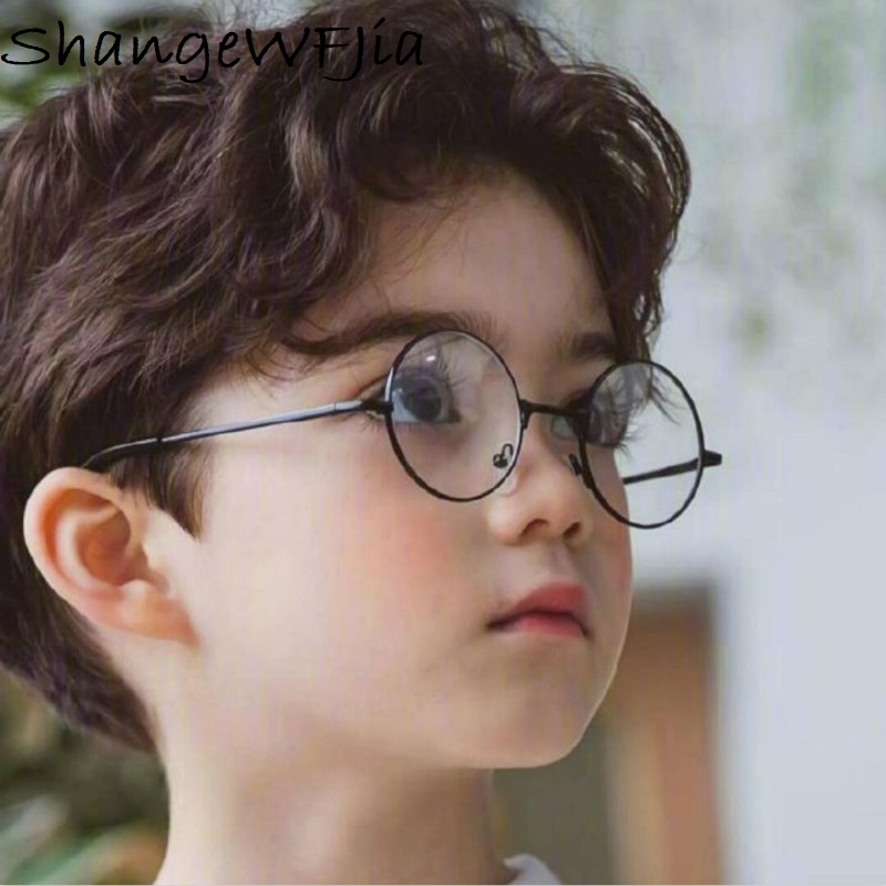 2019NEW Round Children Glasses Frame  Baby Boys Girls Eyeglasses Frame Vintage Kids Clear Lens  Optical Spectacle 2-9 Old