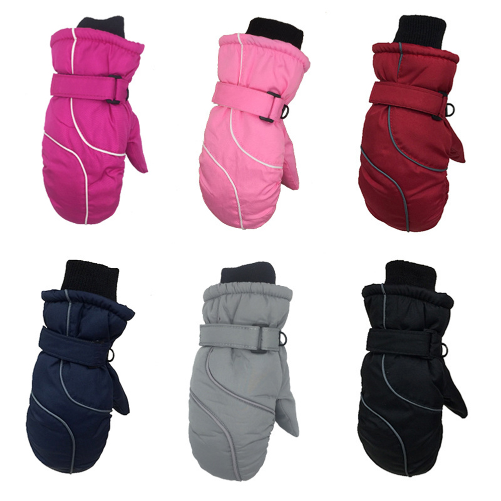 Children Winter Warm Gloves Kids Ski Snowboard Windproof Waterproof Mittens Accessories Cartoons Gloves Kids Camp Outdoor