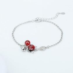 Браслеты из серебра 925 пробы, модный браслет с кулоном из жемчуга и камня для женщин