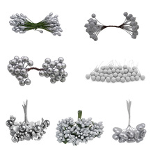 5/6/10/20/24/30/40/50pcs Silver Mixed Artificia Simulation Cherry Stamen Berries Bundle Party Christmas Tree Decoration цена 2017