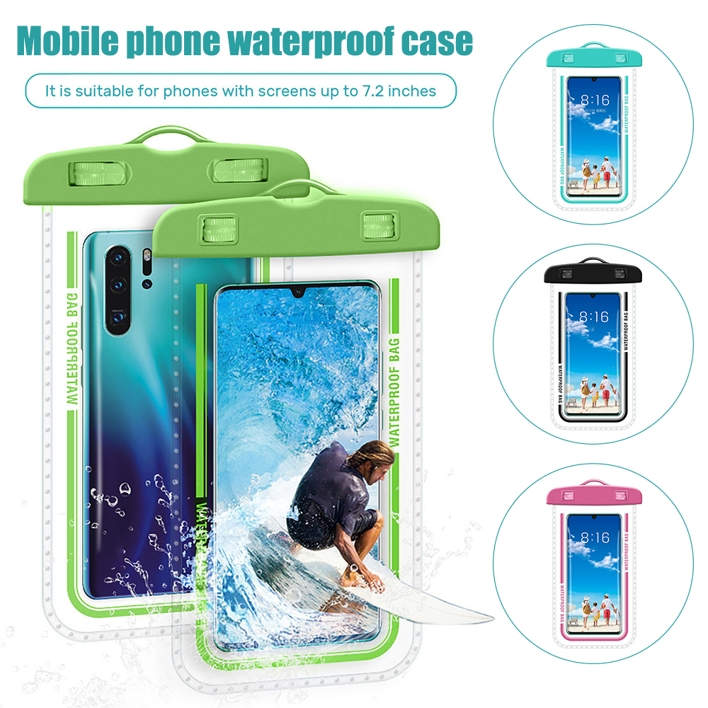 Hb430142b85b54e59acfc6cf96b2ce326O - Waterproof Phone Pouch Drift Diving Swimming Bag Underwater Dry Bag Case Cover For Phone Water Sports Beach Pool Skiing 6 inch