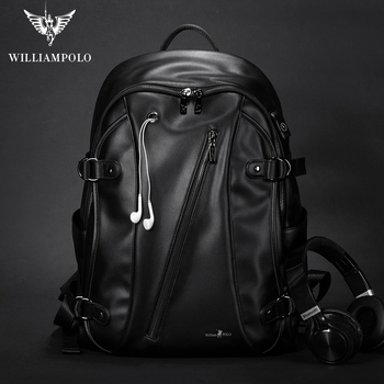 Men Laptop Backpack Slim Black Ultralight Backpack Thin Back 15.6 inch Business WILLIAMPOLO Waterproof Laptop Backpack designer