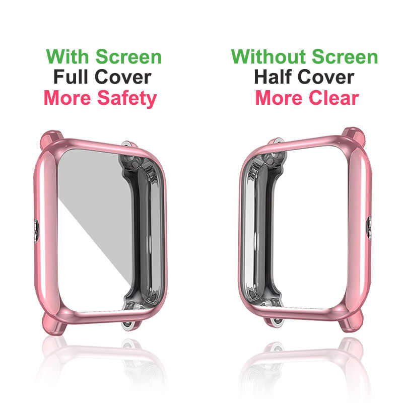 Xshum Amazfit Bip Case Pelindung untuk Huami Amazfit Bip Aksesoris Xiaomi Bumper Plating TPU Shell Case Penutup Pelindung Layar