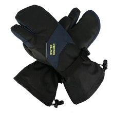 Skiing-Gloves Mittens Touch-Screen Snowboard Warm Waterproof Winter Women Children 3-Fingers