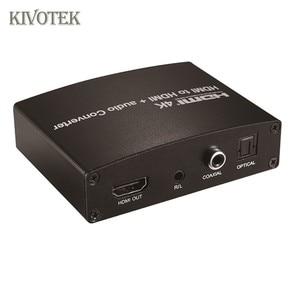 Image 2 - 4 HDMI に HDMI + オーディオ変換アダプタ OpticalCoaxial3.5mm オーディオ · アンプ/スピーカー、 EDID 制御 Dvd ハイビジョン送料無料