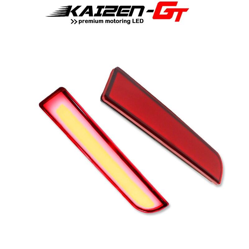 Red LED Bumper Reflectors Lights W/Sequential Turn Signal Light For Mitsubishi Lancer Evolution X Outlander Tail Rear Fog Light