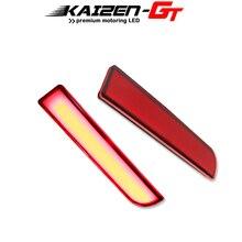 Rode Led Bumper Reflectoren Lichten W/Sequential Richtingaanwijzer Voor Mitsubishi Lancer Evolution X Outlander Staart Achter Fog licht