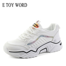 E TOY WORD Women shoes running 2019 new mesh breathable casual sneakers women autumn thick platform