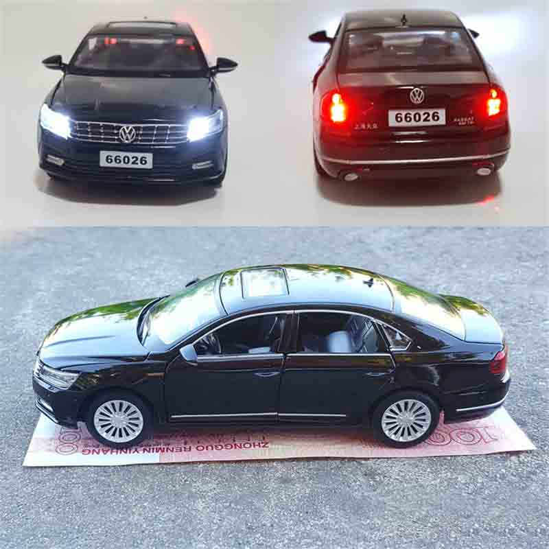 1:32 Passat VW Volkswagen Diecast ölçekli oyuncak araba modelleri 6 açılabilir kapılar Metal Model ses ve ışık geri çekin SUV oyuncaklar çocuklar için
