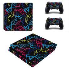 Pegatina de vinilo de pegatina de PS4 Slim para consola Playstation 4 y controladores, pegatina de PS4 Slim