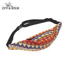 Waist-Bag Fanny-Pack Wgm Women ZFF for Plaid Hip-Hop 3d-Print