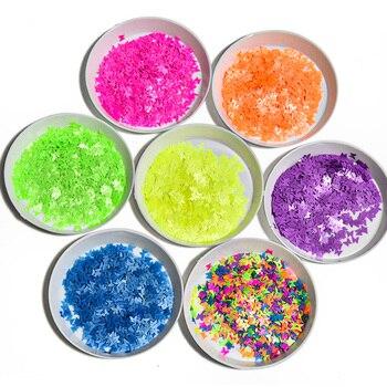 цена 50g Neon Butterfly Glitter | Glitter for face,body,hair, nail art | Loose glitter nail supplier crafts resin | Neon Rainbow Dot онлайн в 2017 году