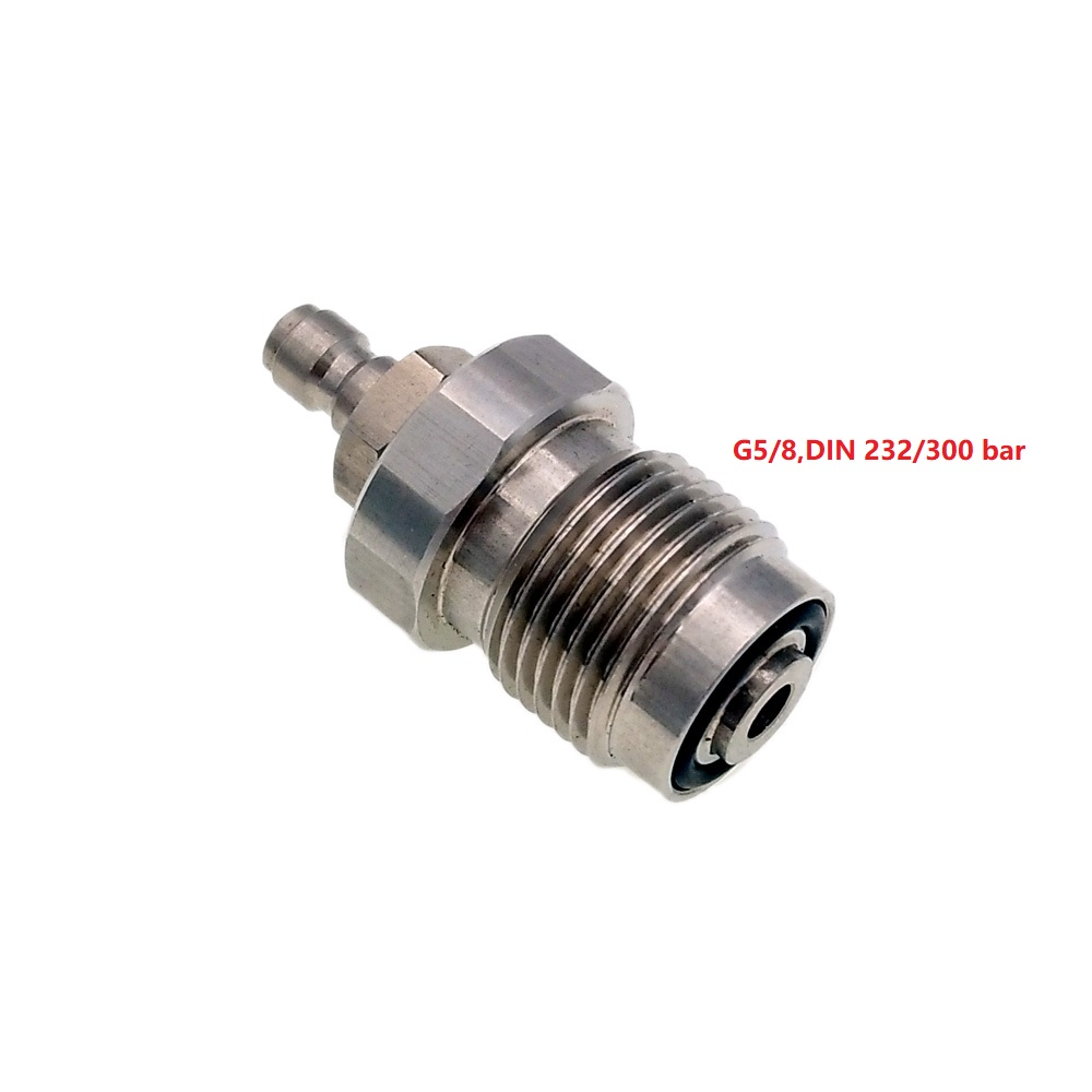 DIN 232 & 300 Bar 5/8BSP To 1/8BSP / 8mm Male Quick Disconnect Fitting Adapter For PCP Air Gun Rifle Charger Filling Charging