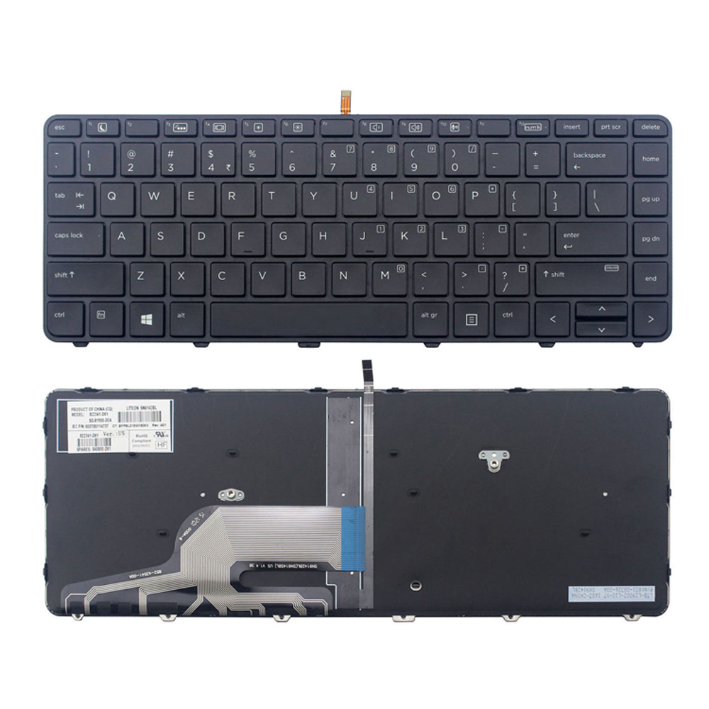 New US Backlit <font><b>Keyboard</b></font> for <font><b>HP</b></font> Probook <font><b>430</b></font> G3 <font><b>430</b></font> G4 440 G3 G4 445 G3 Laptop Backlight <font><b>Keyboard</b></font> 935425-001 Black image