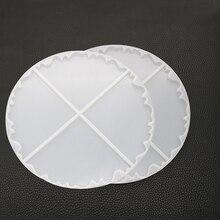 Новые прозрачные силиконовые формы ожерелье lanugo плесень смолы декоративное ремесло DIY волны coaster формы для эпоксидной смолы для ювелирных изделий