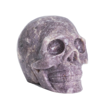 Natural Quartz Crystal Skull Lepidolite Skull Top Quality Crystal Carvings Big Skull Halloween Gifts фото