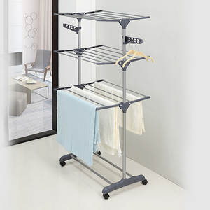 GIANTEX Hanger Coat-Rack Clothing Wardrobe Porte Drying-Racks Storage Kledingrek Perchero-De-Pie