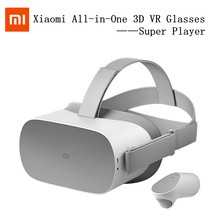 Xiaomi Super Player 3D VR Gläser AR Alle-in-One Wireless WIFI Helm VR Spiele Griff 360 4K HD 3G + 32/64G Panorama Surround TV(China)