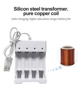 Image 3 - VOXLINK USB סוללה מטען 4 חריצים עם USB כבל עבור AA/AAA נטענת סוללות מטען עבור שלט רחוק מיקרופון מצלמה