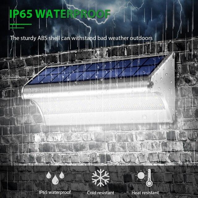 CHIZAO LED Solar Power Lamp PIR Motion Sensor Metal Solar Wall Light Outdoor Waterproof Garden Super Bright Energy Saving Lamp 3