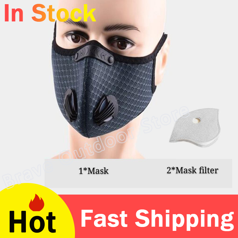 Cycling Face Mask Sport Training Outdoor Sport Travel Running Mask With Activated Carbon Filter MTB Bike Accessories