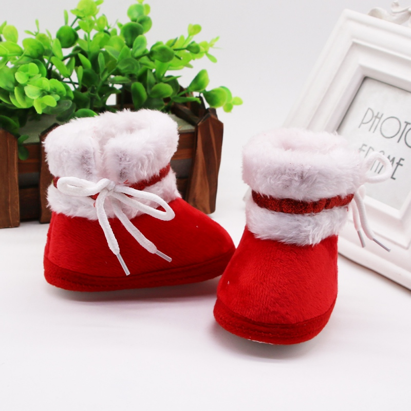 Newborn Baby Shoes 0-18M New Autumn Winter Cute Baby Warm Anti-slip Soft Soles Shoes First Walkers Casual Boots Shoes