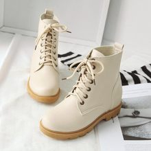 Big Size 9 10 11 12 boots women shoes ankle boots for women ladies boots Cross binding and skin lift(China)