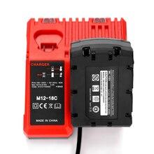 M12 18C Li ion Battery Charger for Milwaukee 12 V 14.4V 18V C1418C 48 11 1815/1828/1840 M18 M14 M12 Lithium Battery