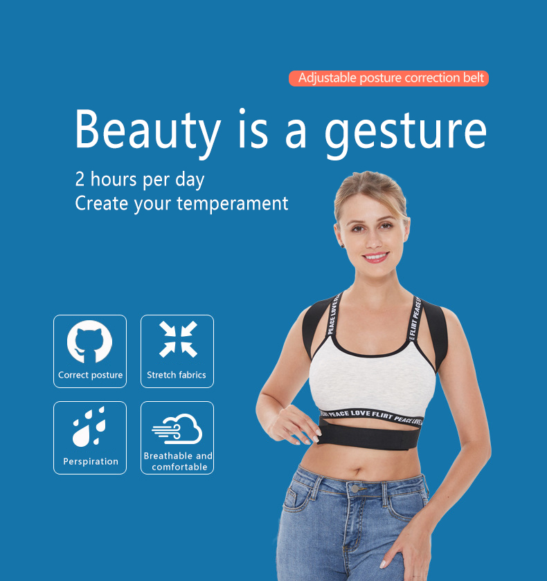 Купить с кэшбэком Male and female anti-hunchback correction belt treatment back correction spine stiff back artifact posture correction device