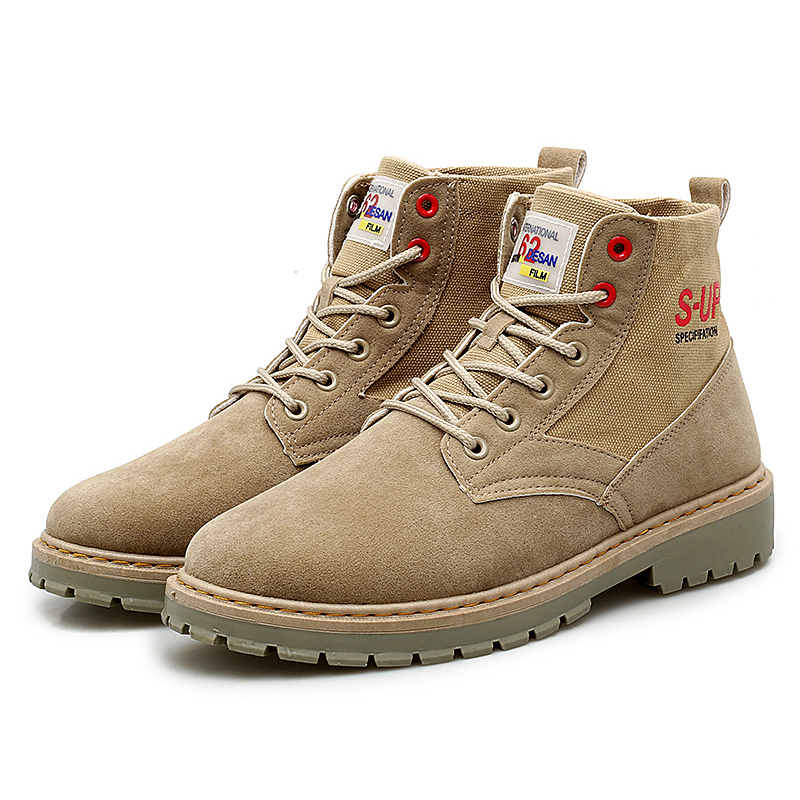 TaoBo Autumn Winter Men Casual Shoes Warm Men Suede Boots Leather Work Men Anti-slip Handmade Outdoor Working Boots Motorcycle