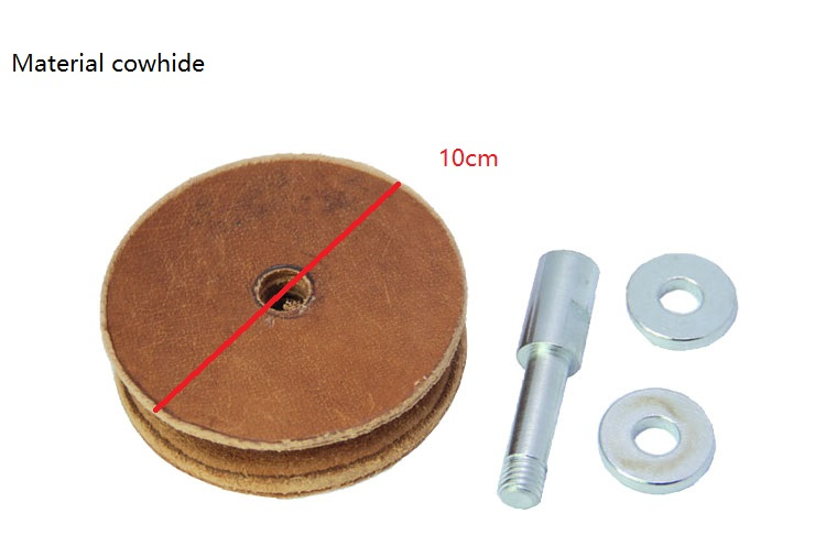 New Profiled Leather Honing Wheel For Woodworking Water-cooled Grinder Woodturning Tool Sharpening