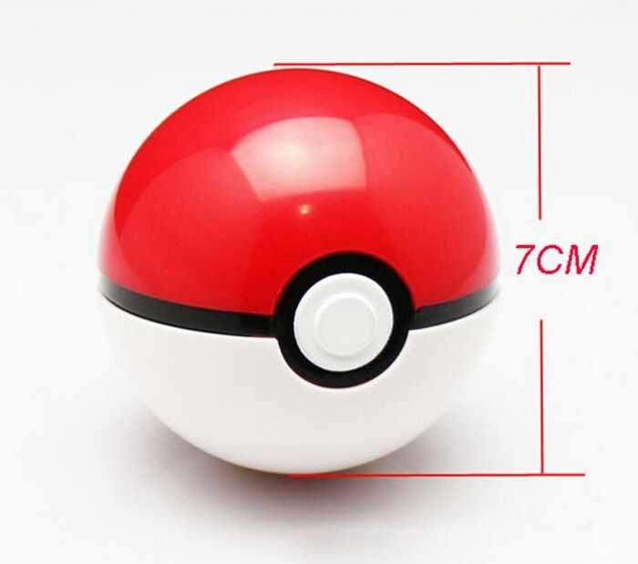 1Pc Pokeball + 1Pc Pokemon Gratis Willekeurige Cijfers Binnen 1:1 Anime Actie & Toy Figures Kerstcadeau Voor kinderen