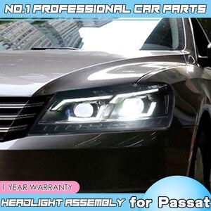 Image 4 - car accessories for VW Passat B7 US Verson Headlight For Passat B7 2012 2016 Headlight DRL D2H dynamic turn signal Hid Bi Xeno