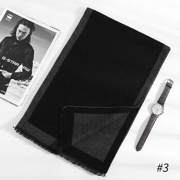 [Peacesky]2019 New Brand Winter Men's gift Gray Striped Scarves Business gentleman,Cashmere Scarf ,Men Scarves,Bufanda